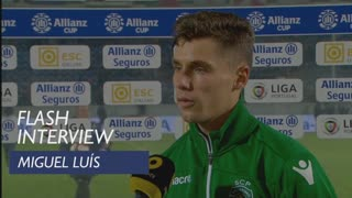 Taça da Liga (Fase de Grupos): Flash interview Miguel Luís