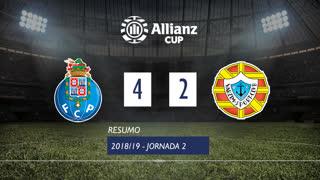Allianz Cup (Fase 3 - Jornada 2): Resumo FC Porto 4-2 Varzim SC