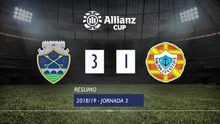 Allianz Cup (Fase 3 - Jornada 3): Resumo GD Chaves 3-1 Varzim SC
