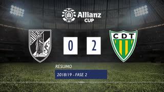 Taça da Liga (2ª Fase): Resumo Vitória SC 0-2 CD Tondela