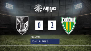 Allianz Cup (2ª Fase): Resumo Vitória SC 0-2 CD Tondela