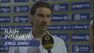 Taça da Liga (Fase 2): Flash interview Jorge Simão