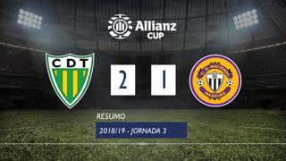 Allianz Cup (Fase 3 - Jornada 3): Resumo CD Tondela 2-1 CD Nacional