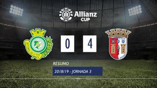 Allianz Cup (Fase 3 - Jornada 3): Resumo Vitória FC 0-4 SC Braga