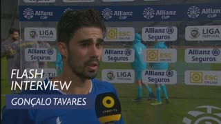 Taça da Liga (Fase de Grupos): Flash interview Gonçalo Tavares