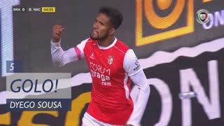 GOLO! SC Braga, Dyego Sousa aos 5', SC Braga 1-0 CD Nacional