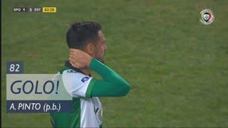 GOLO! Estoril Praia, André Pinto (p.b.) aos 82', Sporting CP 1-2 Estoril Praia