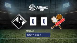 Allianz Cup (1ª Fase): Resumo A. Académica 0-0 Leixões SC