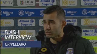 Taça da Liga (Fase de Grupos): Flash interview Crivellaro