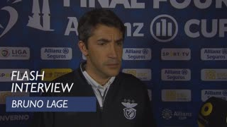 Taça da Liga (Meias-Finais): Flash interview Bruno Lage