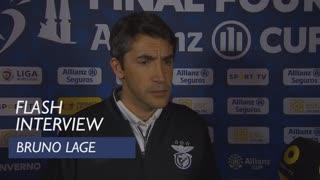 Taça da Liga (Meias-Finais): Flash interview Bruno Lage
