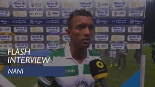 Taça da Liga (Final): Flash interview Nani