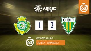 Allianz Cup (Fase 3 - Jornada 2): Resumo Flash Vitória FC 1-2 CD Tondela