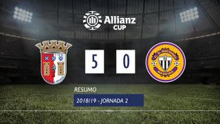 Allianz Cup (Fase 3 - Jornada 2): Resumo SC Braga 5-0 CD Nacional