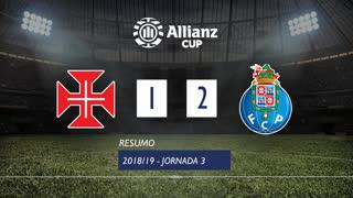 Allianz Cup (Fase 3 - Jornada 3): Resumo Os Belenenses 1-2 FC Porto
