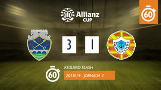 Allianz Cup (Fase 3 - Jornada 3): Resumo Flash GD Chaves 3-1 Varzim SC