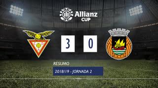 Allianz Cup (Fase 3 - Jornada 2): Resumo CD Aves 3-0 Rio Ave FC