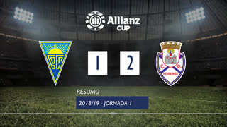Allianz Cup (Fase 3 - Jornada 1): Resumo Estoril Praia 1-2 CD Feirense