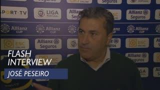 Taça da Liga (Fase de Grupos): Flash interview José Peseiro