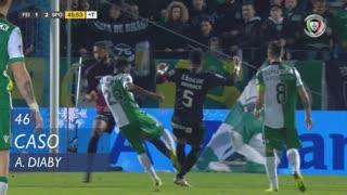 Sporting CP, Caso, A. Diaby aos 45'+1'