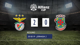 Allianz Cup (Fase 3 - Jornada 2): Resumo SL Benfica 2-0 FC P.Ferreira