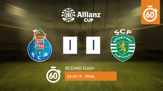 Allianz Cup (Final): Resumo Flash FC Porto 1-1 Sporting CP