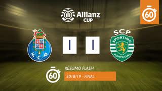 Taça da Liga (Final): Resumo Flash FC Porto 1-1 Sporting CP