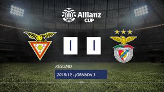 Allianz Cup (Fase 3 - Jornada 3): Resumo CD Aves 1-1 SL Benfica