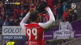 GOLO! SC Braga, Dyego Sousa aos 3', SC Braga 1-0 Sporting CP