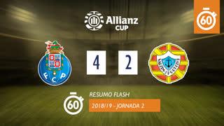 Allianz Cup (Fase 3 - Jornada 2): Resumo Flash FC Porto 4-2 Varzim SC
