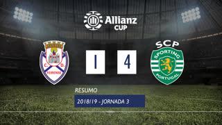 Allianz Cup (Fase 3 - Jornada 3): Resumo CD Feirense 1-4 Sporting CP
