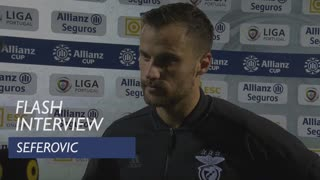 Taça da Liga (Fase de Grupos): Flash interview Seferovic