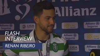Taça da Liga (Final): Flash interview Renan Ribeiro
