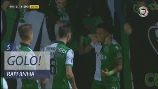GOLO! Sporting CP, Raphinha aos 5', CD Feirense 0-1 Sporting CP