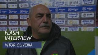 Taça da Liga (Fase de Grupos): Flash interview Vítor Oliveira