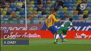 Sporting CP, Caso, A. Diaby aos 33'