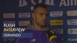 Taça da Liga (Final): Flash interview Fernando