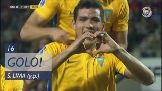 GOLO! Estoril Praia, Sandro Lima aos 16', Marítimo M. 0-1 Estoril Praia