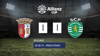 Allianz Cup (Meias-Finais): Resumo SC Braga 1-1 Sporting CP