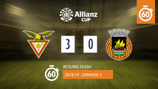Allianz Cup (Fase 3 - Jornada 2): Resumo Flash CD Aves 3-0 Rio Ave FC