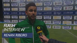 Taça da Liga (Meias-Finais): Flash interview Renan Ribeiro
