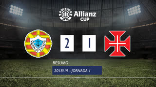 Allianz Cup (Fase 3 - Jornada 1): Resumo Varzim SC 2-1 Belenenses SAD