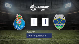 Allianz Cup (Fase 3 - Jornada 1): Resumo FC Porto 1-1 GD Chaves