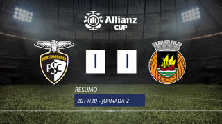 Allianz Cup (Fase 3 - Jornada 2): Resumo Portimonense 1-1 Rio Ave FC