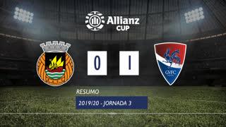 Allianz Cup (Fase 3 - Jornada 3): Resumo Rio Ave FC 0-1 Gil Vicente FC