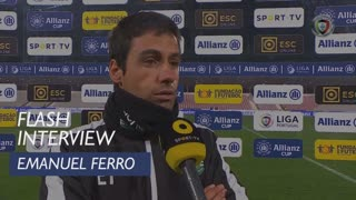 Taça da Liga (Fase de Grupos): Flash Interview Emanuel Ferro
