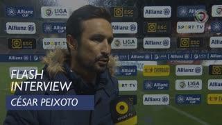 Taça da Liga (Fase de Grupos): Flash Interview César Peixoto