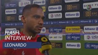 Taça da Liga (Fase de Grupos): Flash Interview Leonardo