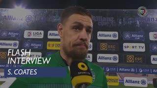 Taça da Liga (Fase de Grupos): Flash Interview S. Coates