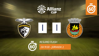 Allianz Cup (Fase 3 - Jornada 2): Resumo Flash Portimonense 1-1 Rio Ave FC